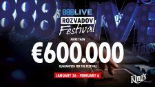 888Live Festival Rozvadov garantiert mehr als € 600.000
