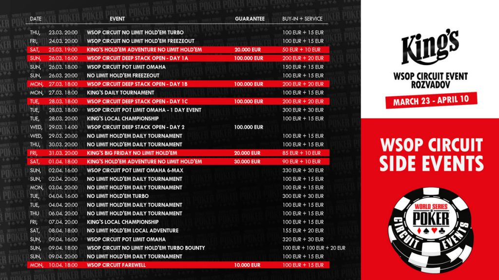 wsop ring events