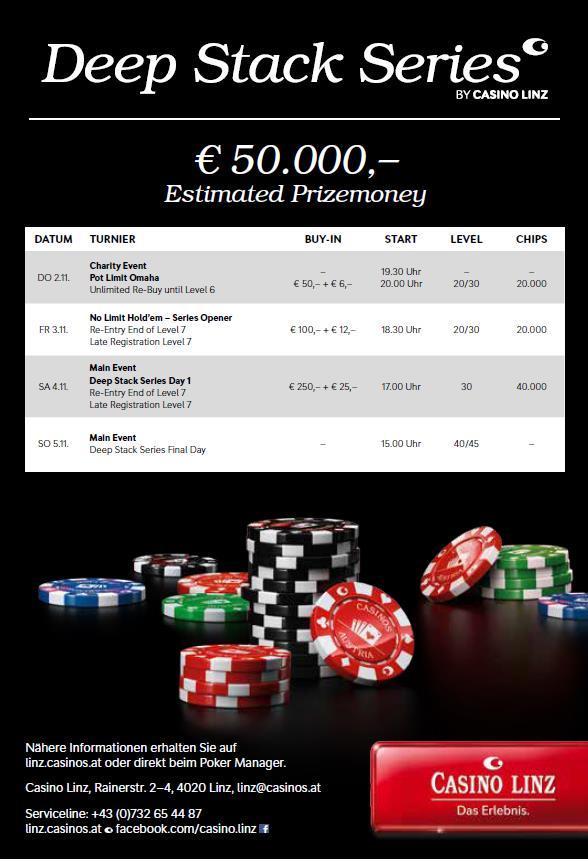 Casino Linz lädt zur Deep Stack Series