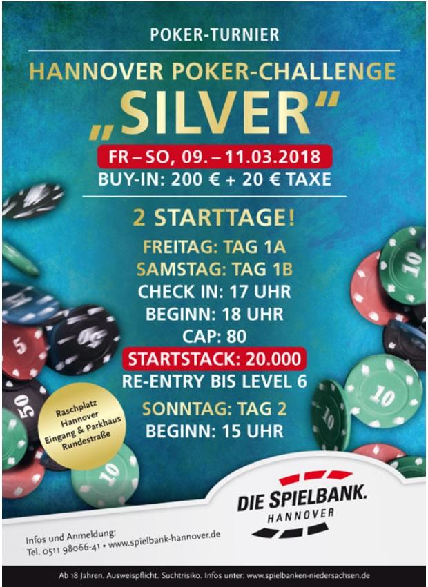 """Walid A. übernimmt die Führung bei der Poker Challenge """"Silver"""" in Hannover"""