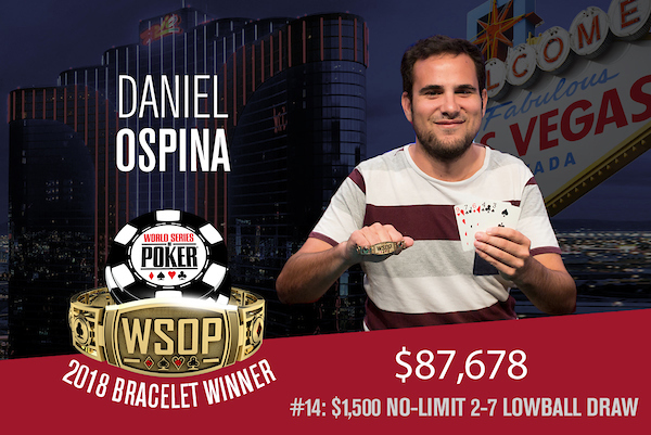 WSOP 2018 #14: Daniel Ospina holt das kleine NL 2-7 Lowball