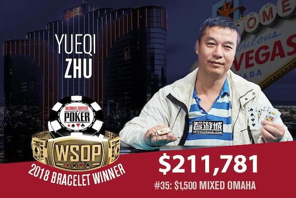 WSOP 2018 #35: Yueqi Zhu holt das Mixed Omaha in der Verlängerung