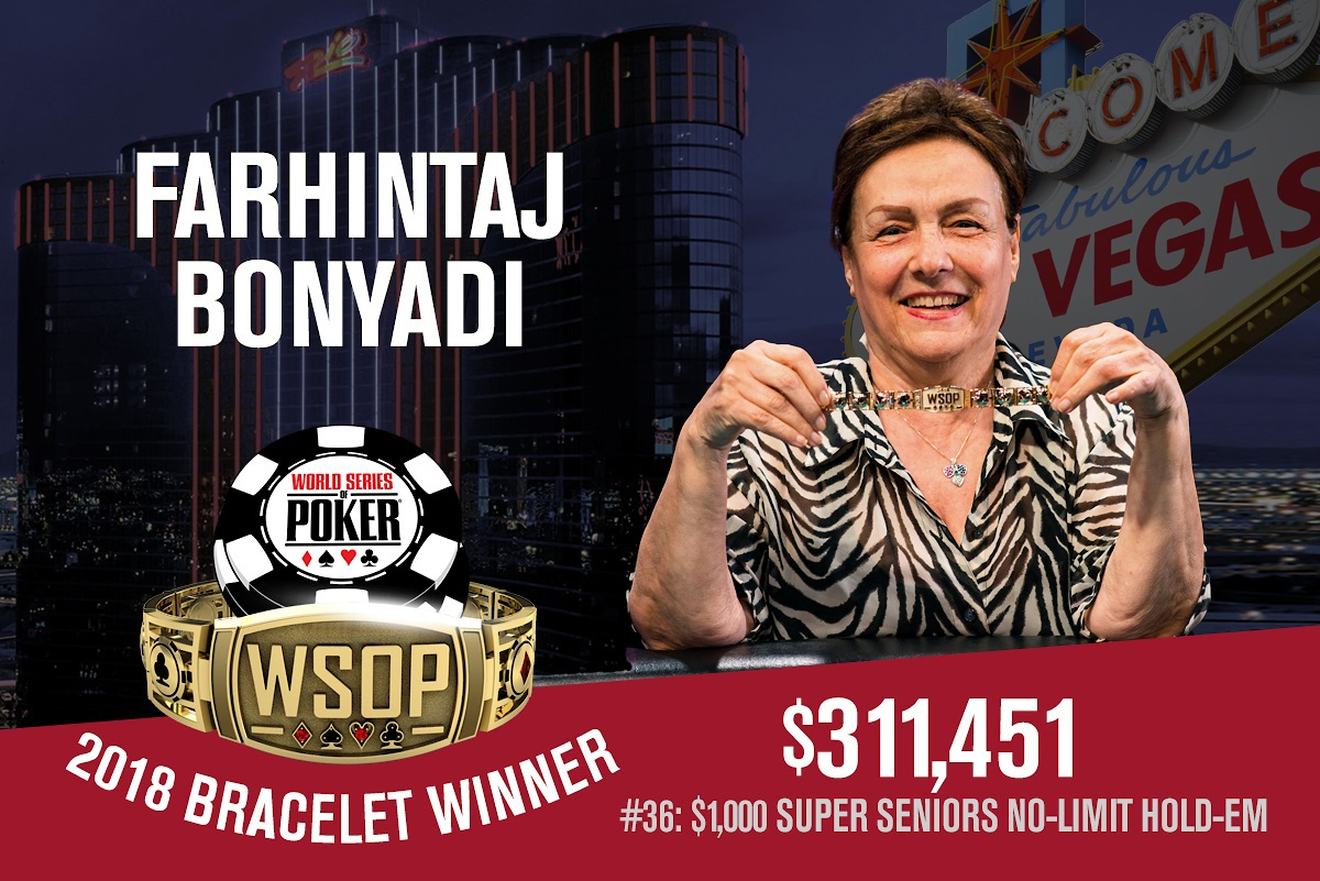 WSOP 2018 #36: Farhintaj Bonyadi ist die erste Bracelet Gewinnerin dieses Jahr