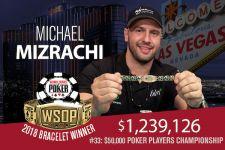 WSOP 2018 K PPC: Michael Mizrachi gewinnt zum dritten Mal