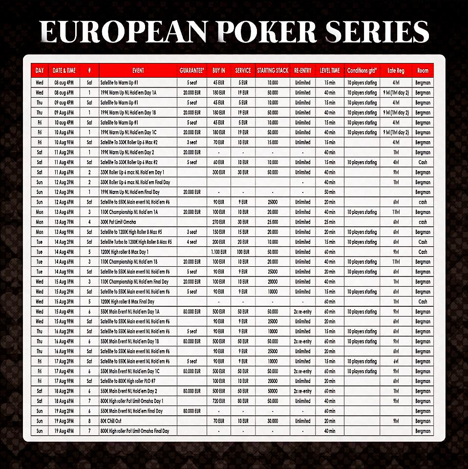 Die Botschafter der European Poker Series