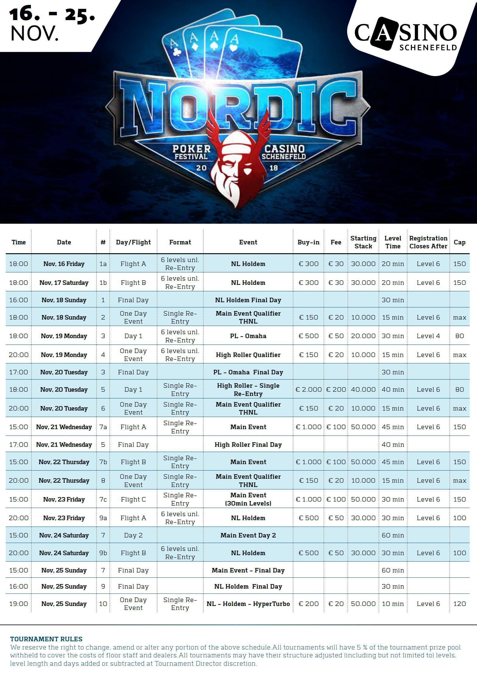 Casino Schenefeld präsentiert das Nordic Poker Festival