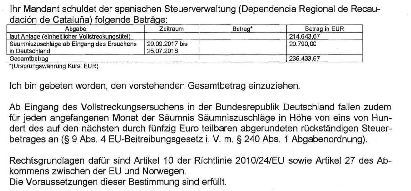 Spanische Finanz fordert horrende Summen von deutschen Pokerspielern