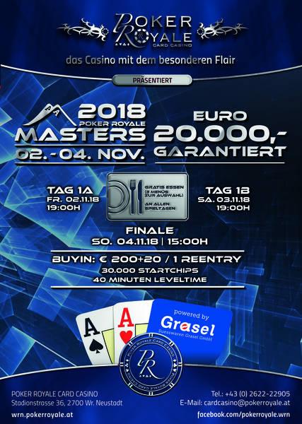 Poker Royale lädt wieder zu den Masters – und den Mini Masters