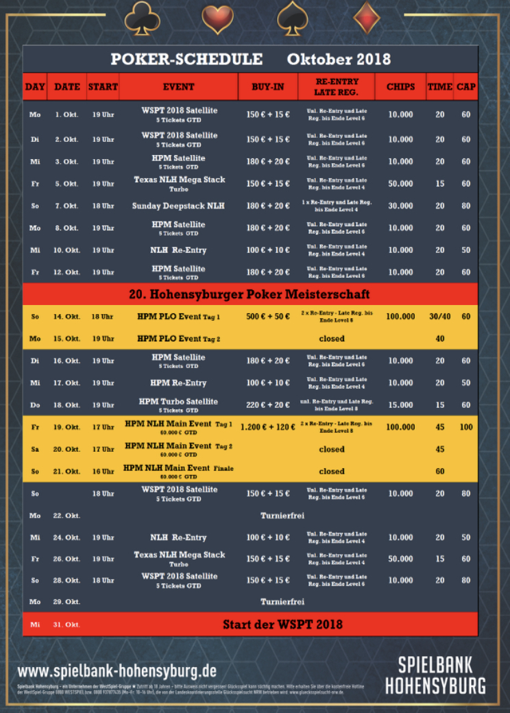 Fünf Tickets für die Hohensyburger Meisterschaft