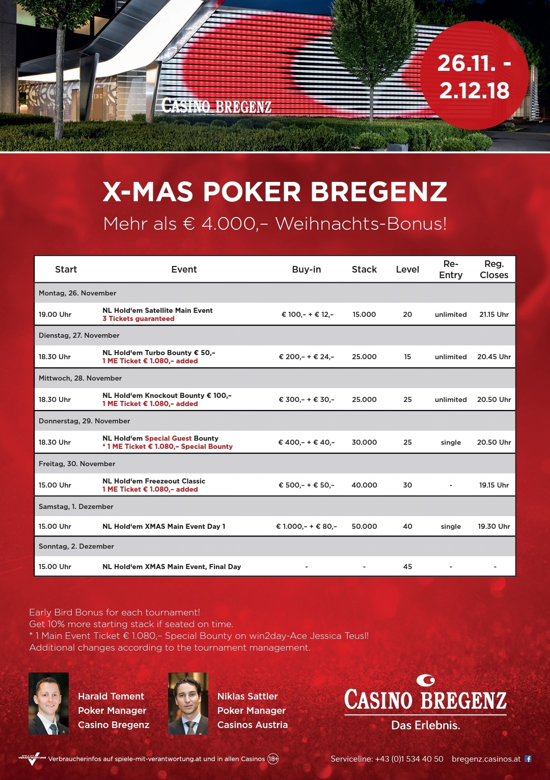 X-Mas Poker im Casino Bregenz