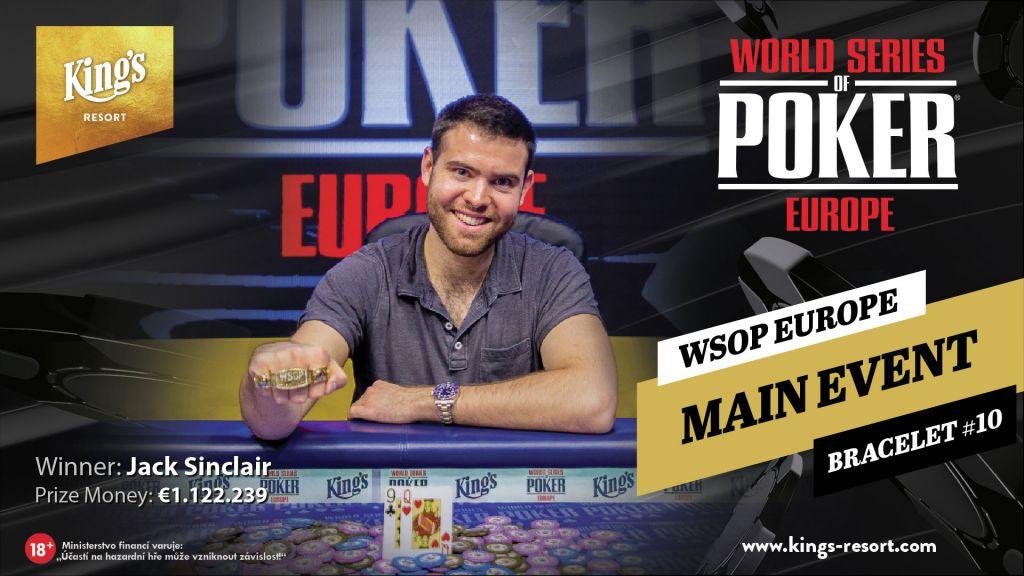 Jack Sinclair ist der WSOP Europe Champion