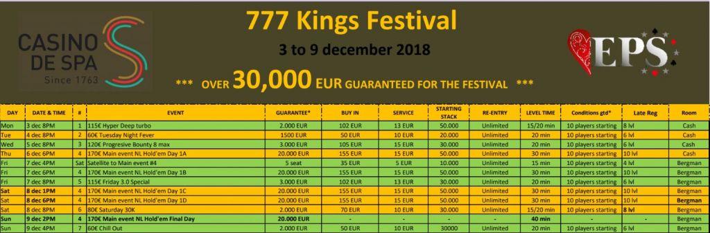 Belgische Führung zum Start beim 777 Kings Festival