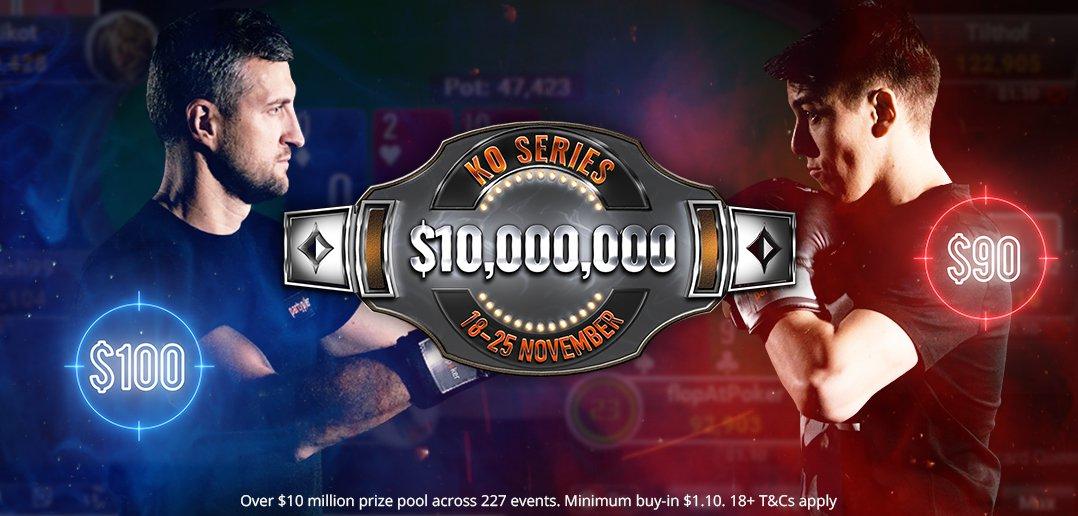 partypoker: garantierte Millionen bei der KO Series